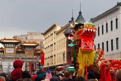 Parata cinese di nuovo anno Fotografia Stock Libera da Diritti