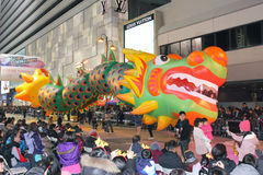 Parata cinese internazionale 2012 di notte di nuovo anno Immagine Stock