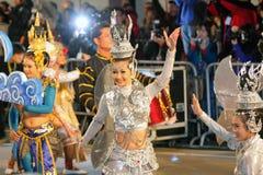 Parata cinese internazionale 2012 di notte di nuovo anno Fotografia Stock