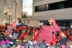 Parata cinese internazionale 2012 di notte di nuovo anno Immagini Stock Libere da Diritti