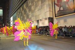 Parata cinese internazionale 2013 di notte dell'nuovo anno Fotografia Stock