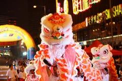 Parata cinese internazionale di notte di nuovo anno Fotografie Stock Libere da Diritti