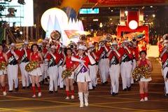 Parata cinese internazionale di notte di nuovo anno Immagini Stock Libere da Diritti