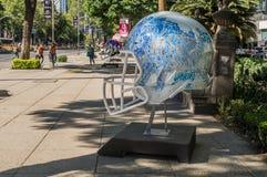 Parata Città del Messico 2017 della palla del NFL immagini stock libere da diritti