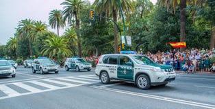 Parata civile di Guardia a Malaga, Spagna Immagini Stock Libere da Diritti
