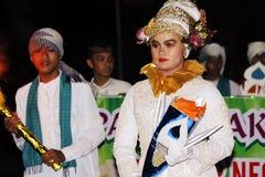 Parata commemorativa Eid 1 città 1435 H Nganjuk, East Java, Ind di Syawal Fotografie Stock
