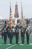 Parata dei cadetti durante il ritorno a casa di calcio dell'istituto universitario, Michie Stadium, West Point, NY Immagini Stock