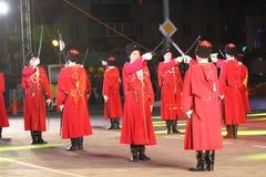 Parata dei cosacchi di Kuban del Russo Immagini Stock