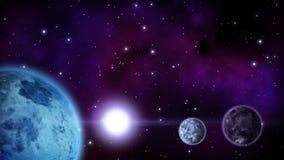 Parata dei pianeti con spazio vuoto per il vostro testo ciclo illustrazione di stock