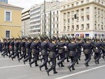 Parata del banco dell'ufficiale di esercito fotografie stock libere da diritti
