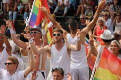 Parata del canale di gay pride di Amsterdam Immagini Stock