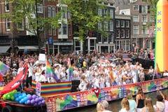 Parata del canale di gay pride di Amsterdam Fotografie Stock Libere da Diritti