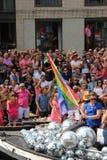 Parata del canale di gay pride di Amsterdam Immagini Stock Libere da Diritti
