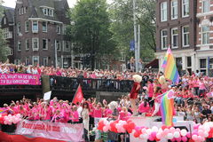 Parata del canale di gay pride di Amsterdam Immagine Stock