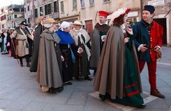 Parata del costume Fotografie Stock Libere da Diritti