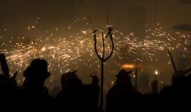Parata del fuoco Immagine Stock
