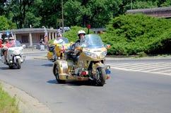 Parata del motociclo a Wroclaw, Polonia Immagine Stock