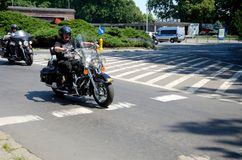 Parata del motociclo a Wroclaw, Polonia Fotografia Stock