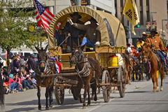 Parata del rodeo e di Houston Livestock Show Immagini Stock Libere da Diritti