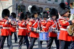 Parata del soldato del ventiduesimo reggimento reale Fotografia Stock