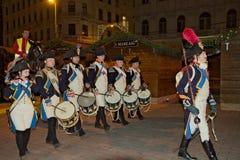Parata dell'esercito del millefoglie a Brno Fotografie Stock Libere da Diritti