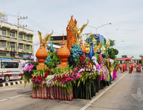 Parata della candela, Suphanburi Immagini Stock Libere da Diritti