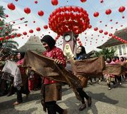 Parata della cultura del batik durante il nuovo anno lunare Immagini Stock