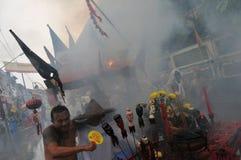 Parata della via del festival del vegetariano di Phuket Immagine Stock
