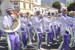 Parata della via di Cape Town - di Kaapseklopse - secondo nuovo anno 2019 immagini stock