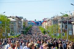 Parata della vittoria in Brjansk maggio 9,2014 Immagini Stock Libere da Diritti