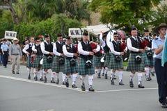 Parata di Anzac Day in Corrumbin, Palm Beach in Australia 2019 fotografia stock libera da diritti