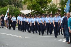 Parata di Anzac Day in Corrumbin, Palm Beach in Australia 2019 immagine stock libera da diritti
