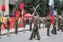 Parata di apertura dedicata alla vittoria nel WWII Pjatigorsk, Russia Immagini Stock