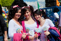 Parata di carnevale del Cipro a Limassol Immagini Stock