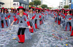 Parata di carnevale della via Fotografia Stock Libera da Diritti
