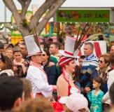 Parata di carnevale di SANTA CRUZ, SPAGNA 2013 Fotografie Stock Libere da Diritti