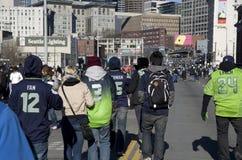 Parata di celebrazione di campionato di vittoria di Seahawks Fotografie Stock Libere da Diritti