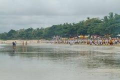 Parata di cerimonia in Bali, Indonesia Fotografia Stock