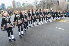 Parata di Chicago San Patrizio Fotografie Stock
