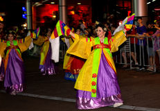 Parata di Chine New Year a Sydney immagine stock