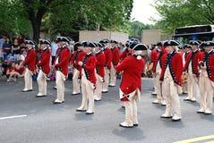 Parata di festa dell'indipendenza di Americaâs fotografie stock libere da diritti