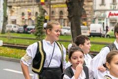 Parata di festa nazionale in Arad, Romania fotografie stock