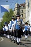 Parata di festival di sorgente, Zurigo, Svizzera Immagine Stock