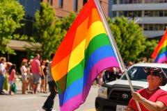 Parata di gay pride Fotografia Stock Libera da Diritti