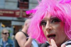 Parata di gay pride a Bruxelles Fotografia Stock Libera da Diritti