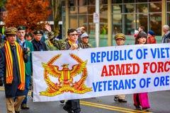Parata 2017 di giornata dei veterani Fotografia Stock Libera da Diritti