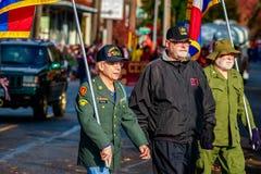 Parata 2015 di giornata dei veterani Fotografia Stock