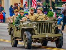 Parata 2016 di giornata dei veterani Fotografie Stock Libere da Diritti