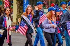 Parata 2016 di giornata dei veterani Fotografia Stock Libera da Diritti