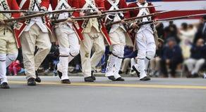 Parata di giorno dei patrioti Fotografia Stock Libera da Diritti